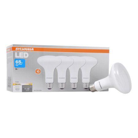 Sylvania LED Light Bulbs, 65W Equivalent, BR30, Soft White 2700K, 4 Pack