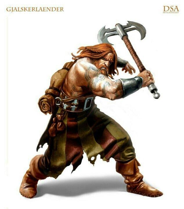 Human Male Barbarian.