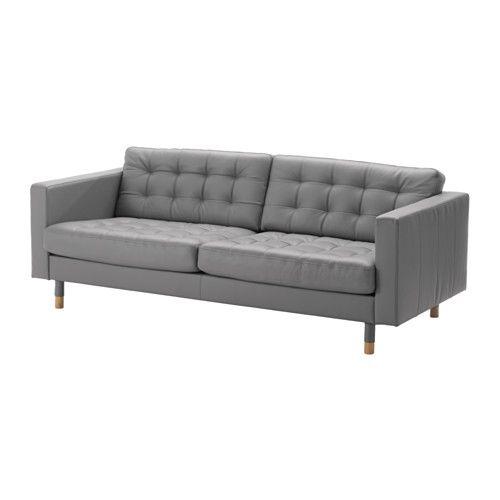 LANDSKRONA Canapé - Grann/Bomstad gris, bois - IKEA