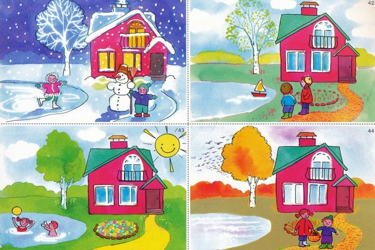 Thema seizoenen voor kleuters / Seasons theme for preschool, free printable