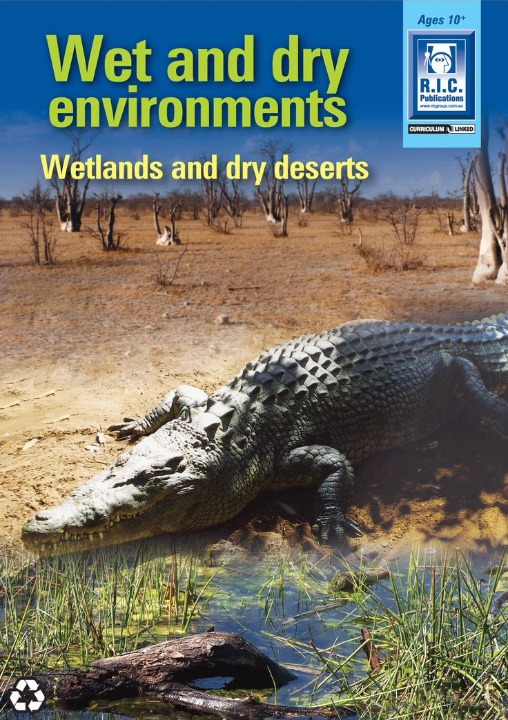 Wet and dry environments: Wetlands and dry deserts.