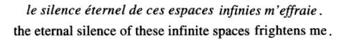 Blaise Pascal, Pensées