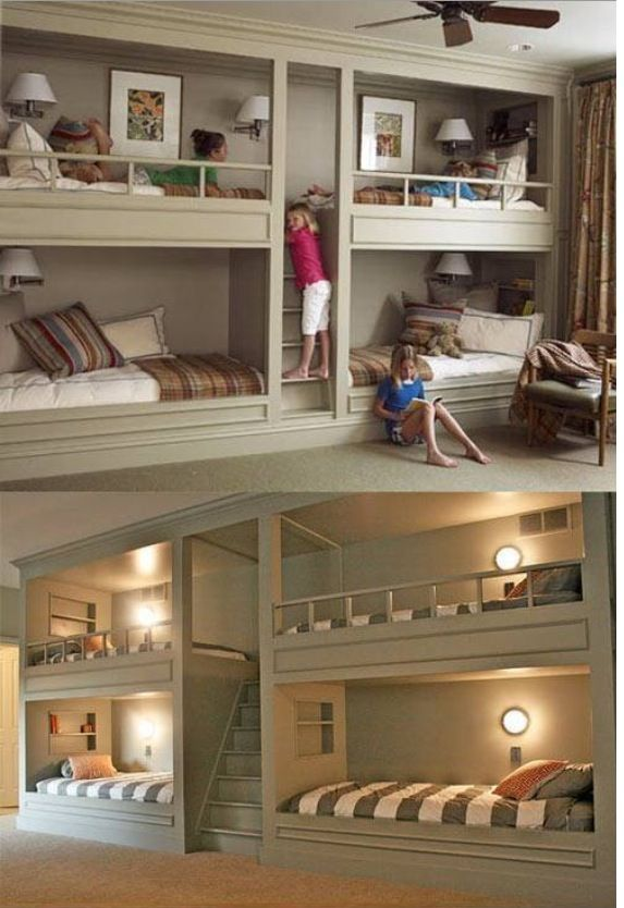 So cool! Great space saver or sleepover room!