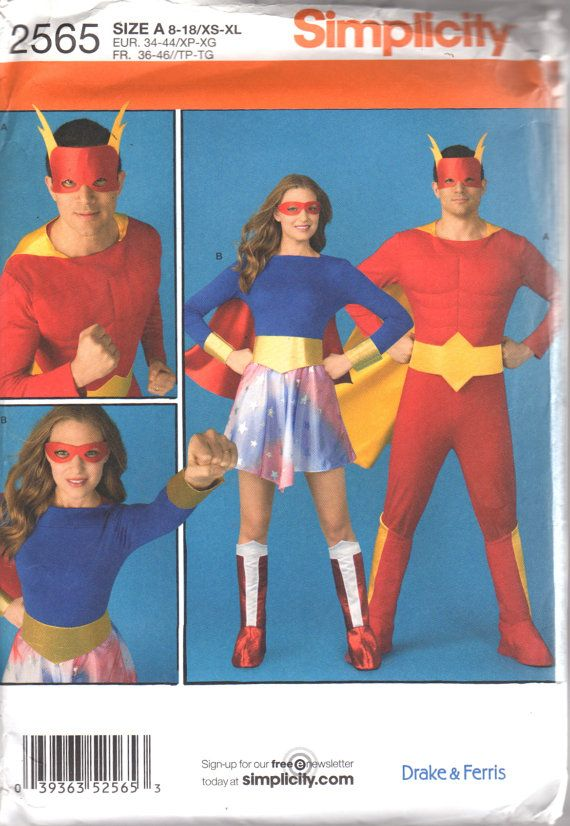 Simplicity 2565 Misses and Mens SUPERHERO Costume by mbchills
