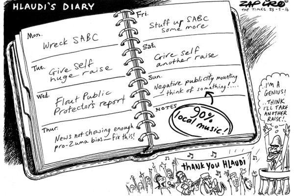 Zapiro: Hlaudi Motsoeneng: 90% music, 100% genius - Mail & Guardian