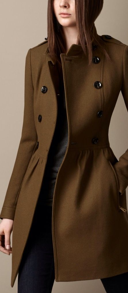 #Fall Fit & Flare Structured Coat #LeChic