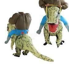 T-Rex Inflatable Dinosaur Costume Adult Outfit Halloween Suit Fancy Dress