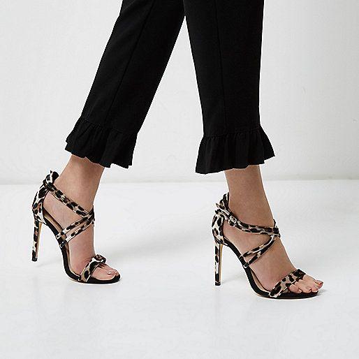 Sandalen met brede pasvorm, bandjes en luipaardprint - sandalen - schoenen / laarzen - dames