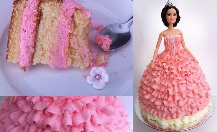 Birthday Cake/ Princess Doll Tutorial How To Cook That Ann Reardon