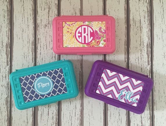 Personalized Pencil Box/ Custom Supply Boxes for by TwoByTwoZoo