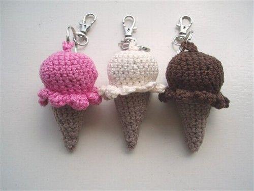 Gehaakt knuffeltje / haakpatroon - Ijsjes/ ---- Icecream- crochet - pattern - amigurumi - patroon - haken – gehaakt ༺✿ƬⱤღ  http://www.pinterest.com/teretegui/✿༻