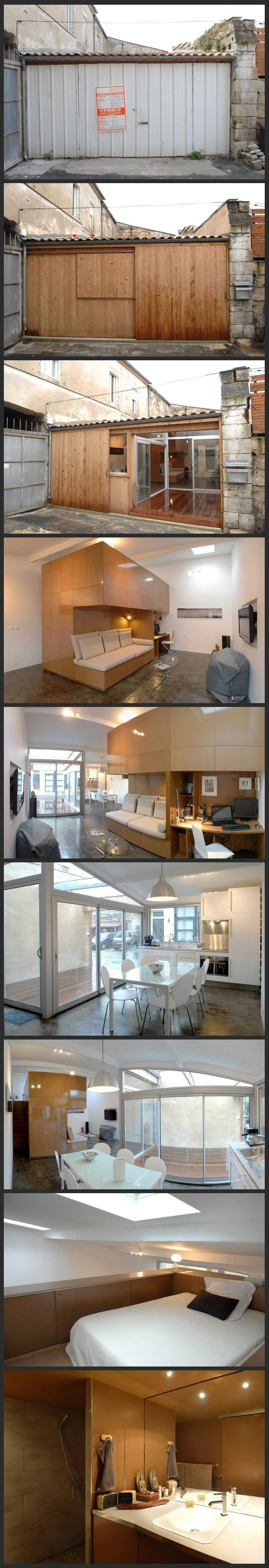 cool garage to apartment. Funny pictures about Garage Converted Into An Apartment  Oh and cool pics Also 139 best how to GARAGE CONVERSION images on Pinterest