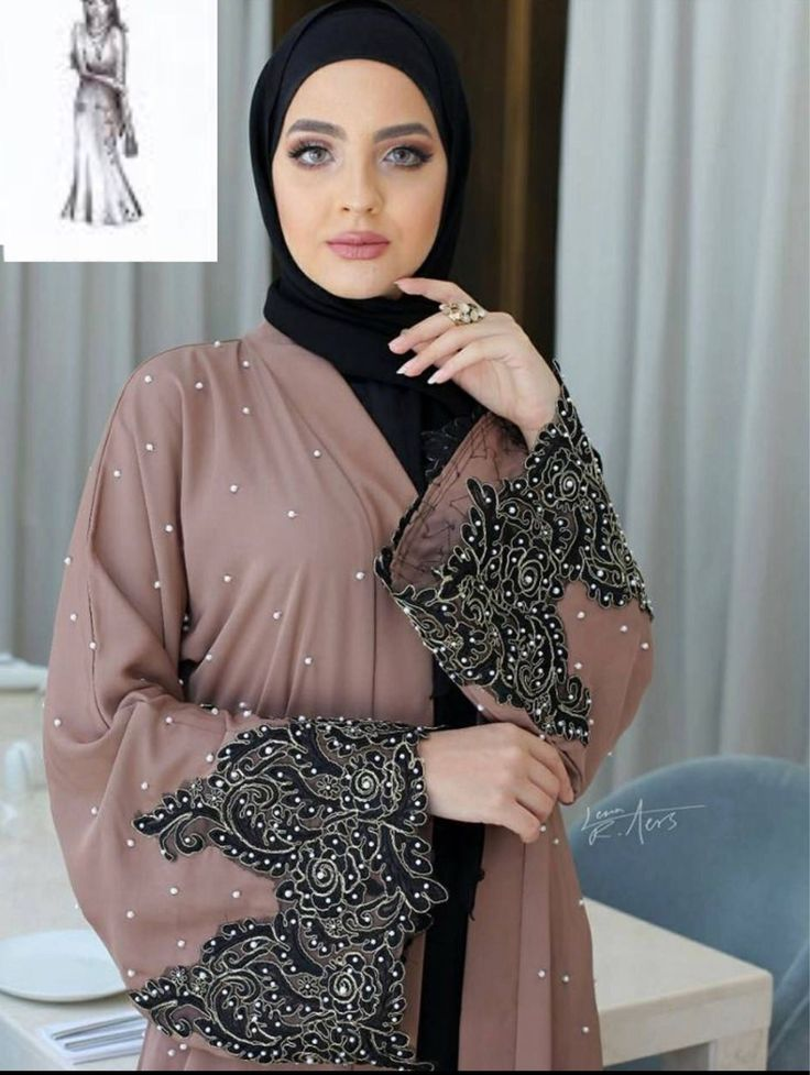 A personal favorite from my Etsy shop https://www.etsy.com/listing/548476210/made-in-dubai-abaya-pearl-lace-abaya