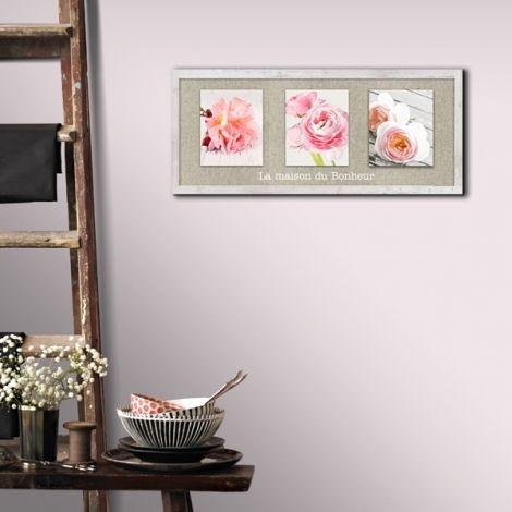 Kalico le spécialiste de la déco intérieure vous propose cette belle toile fleurie parmi une sélection dobjets shabby chic et romantiques pas chers