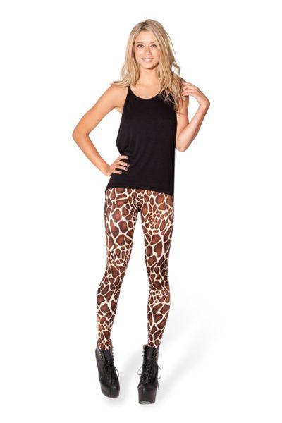 Baby Giraffe High-Waisted Leggings › Black Milk Clothing Medium