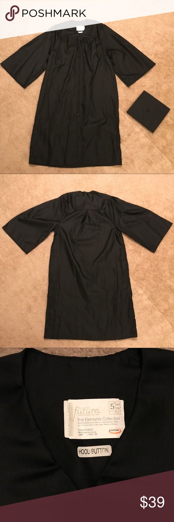 """Graduation Gown Regalia Bachelor Master with Cap This gown is supposed to fit an individual of height between 5'7"""" and 5'9"""".  However, it is a personal preference and school's instruction on how long the gown should be.  It is only worn once (about 3 hours).  I will include the Cap (without the tassels as tassels should be school specific).  I wanna see if anyone wants to get these before I take them to donation the end of Oct 2017.  Thank you! Other"""