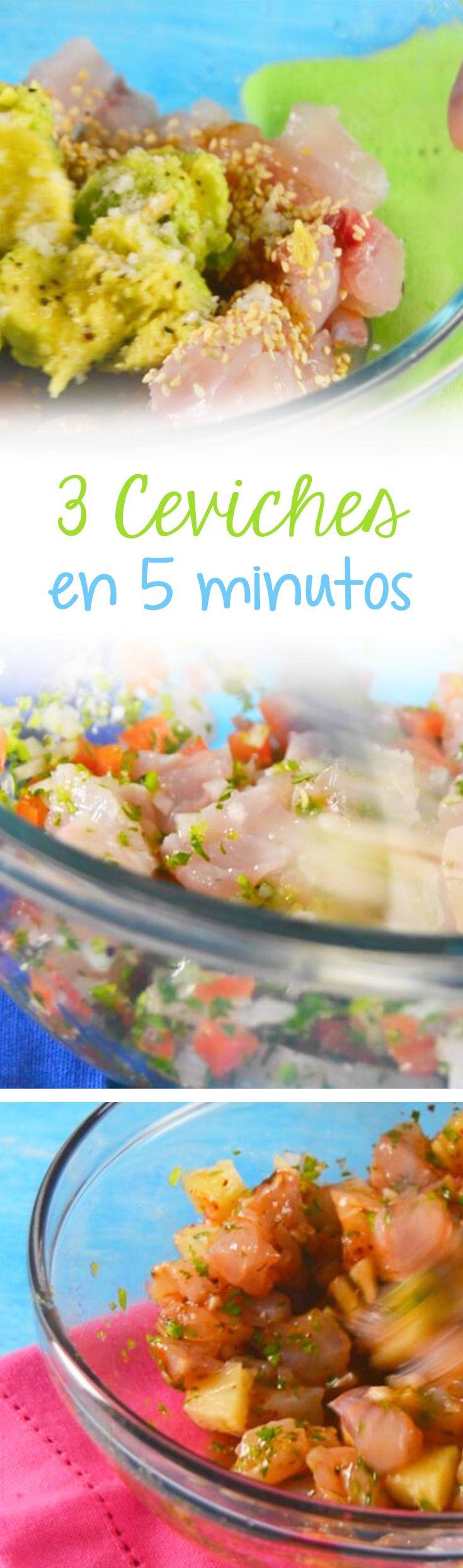Si te gusta el ceviche, aquí encontrarás el paso a paso para aprender a cocinar 3 diferentes ceviches que están ¡deliciosos! Son preparaciones fáciles de pescado que estamos seguros que a ti y a tú familia les va a encantar. Cuéntanos cual fue tu favorito.