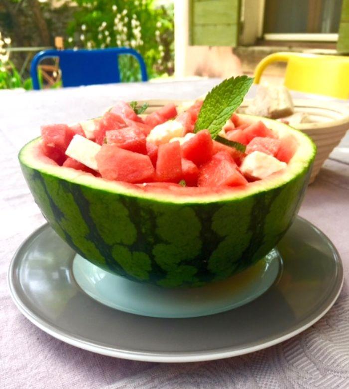 Erfrischender Wassermelonen-Salat — Healthy Schnitzel
