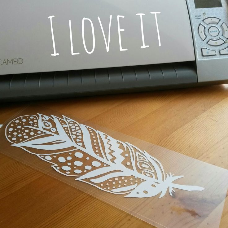 Free feather cutting file by Aline #Silhouette #CutFile
