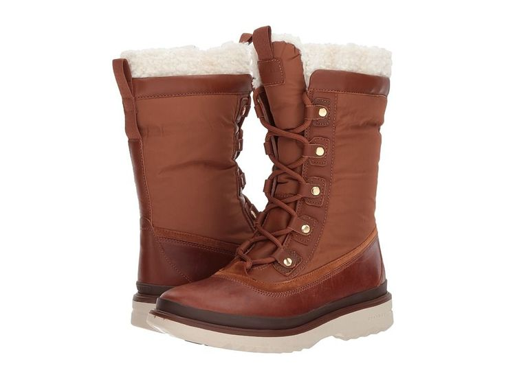 Cole Haan Millbridge Lace-Up Boot Waterproof Women's Shoes Woodbury Leather