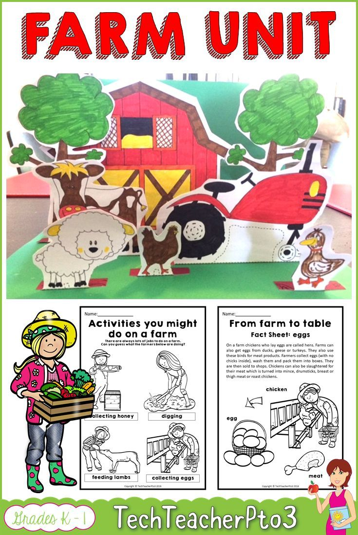 Farm Animals Unit | TpT Science Lessons | Pinterest | Qr codes