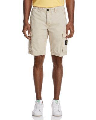 STONE ISLAND Regular Fit Cargo Shorts. #stoneisland #cloth #shorts