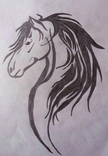 Horse head tattoo design tattoos pinterest horse for Horse head tattoo designs