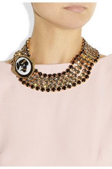 MIU MIU  Crystal cameo necklace