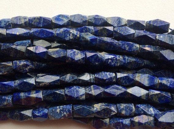 Lapis Lazuli Beads Lapis Lazuli Twisted Diamond by gemsforjewels