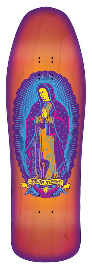 Santa Cruz Jessee Guadalupe Neon Sunburst Skateboard Deck **Pre-Order**
