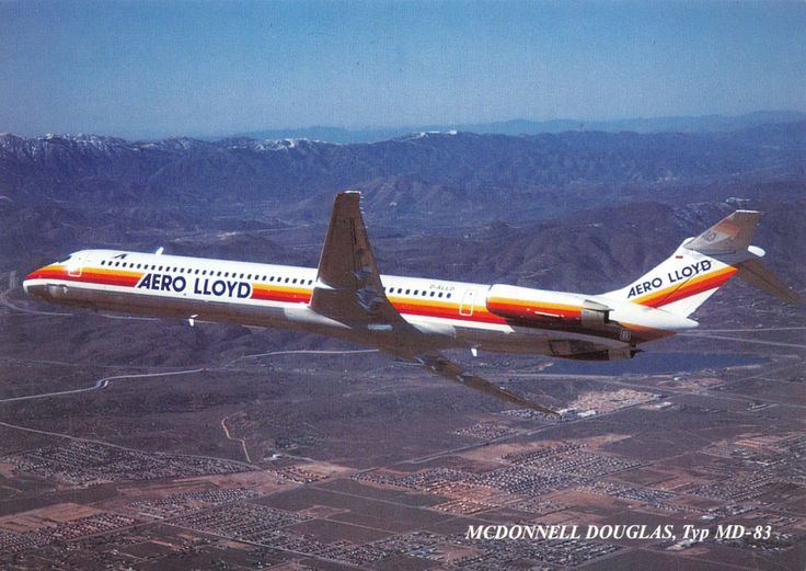 Aero Lloyd McDonnell Douglas MD-83 Postcard