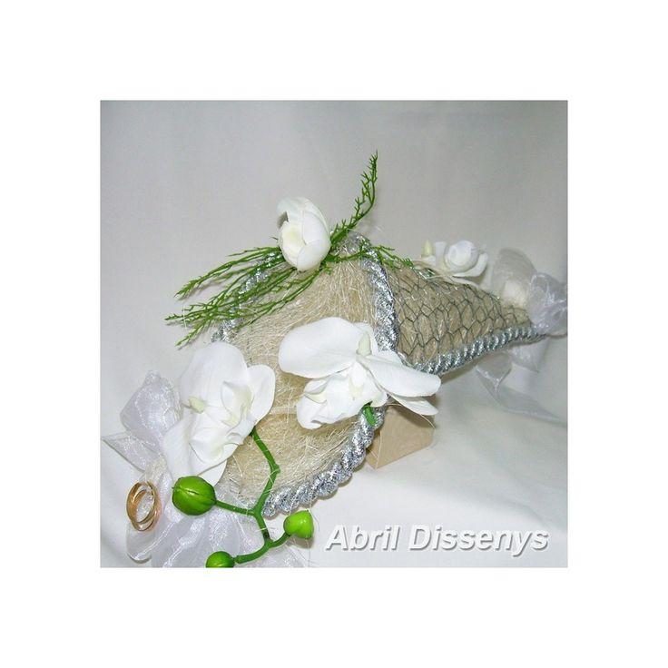 Cono para Anillos Orquídeas Blancas