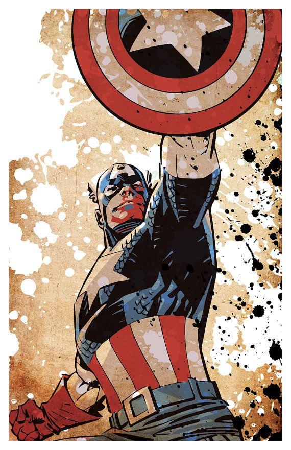 "Superhero poster set, Superman, Batman, Captain America, Spiderman, minimalistic poster series, 11""x17"""