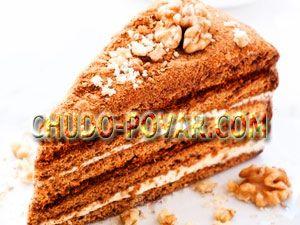 Как испечь медовый торт со сметанным кремом