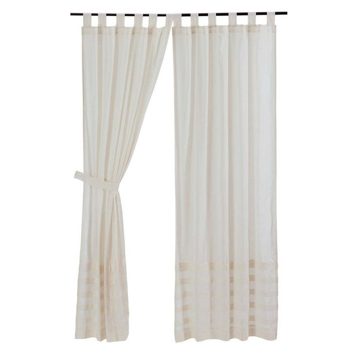 Quinn Creme Unlined Tab Top Panel Curtains