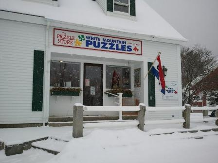 Jackson is a charming little village in the White Mountains of New Hampshire. Our puzzle store sits right in the center of it all -- a country schoolhouse, stone bridge, 1901 library, and the post office where everyone meets to chat. Come pay us a visit -- we'd love to meet you!