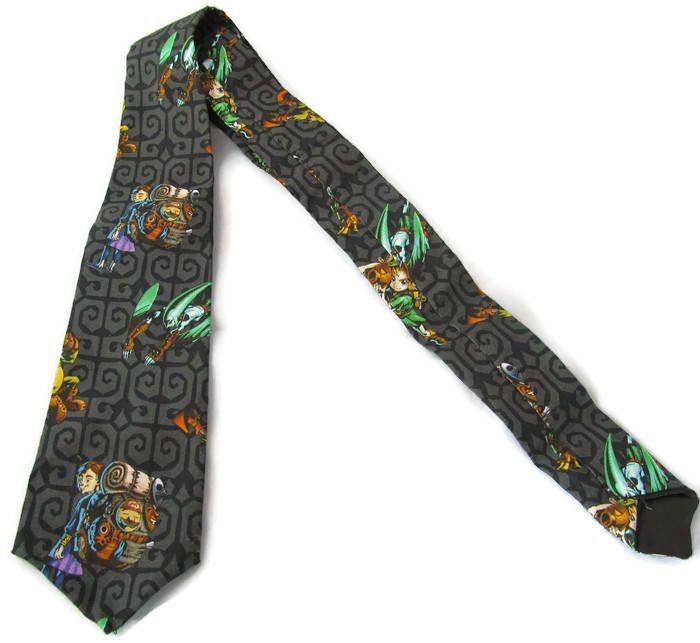 Geeky necktie,gaming character tie,gift for men,handmade,novelty gift,unique gift,secret santa gift,stocking filler,cosplay,geek wedding