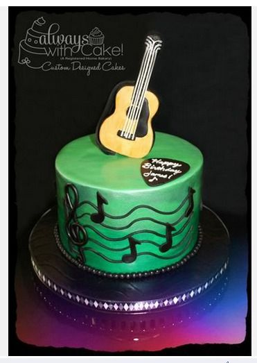 1000 images about acoustic guitar cakes on pinterest for Acoustic guitar decoration ideas