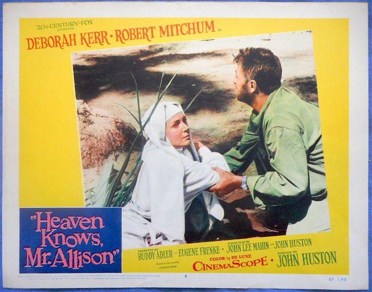 HEAVEN KNOWS MR. ALLISON  Lobby Card #8 Deborah Kerr Robert Mitchum John Huston
