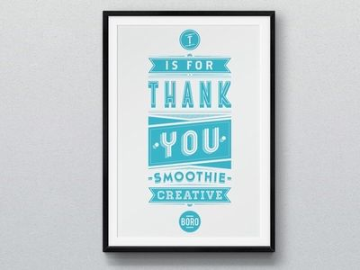 Thank you smoothie creative
