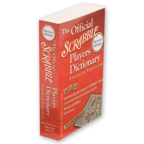 MERRIAM WEBSTER 4Th Edition Scrabble Dictionary by MERRIAM WEBSTER. $10.39. Scrabble Dictionary is the book that millions of SCRABBLE players consider the only necessary resource! Ideal for recreational and school use there are more than 100,000 playable two-to eight-letter words, including 4,000 new entries! Endorsed by the National SCRABBLE Association.. Save 11%!