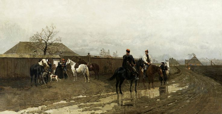 Scene from the January Uprising of 1863 by Antoni Piotrowski, 1881 (PD-art/old), Ossolineum