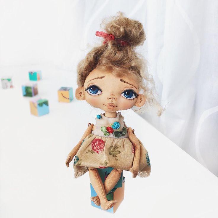 Кукла текстильная , 100% хлопок, морской песок , волосы натуральные (козочка)…