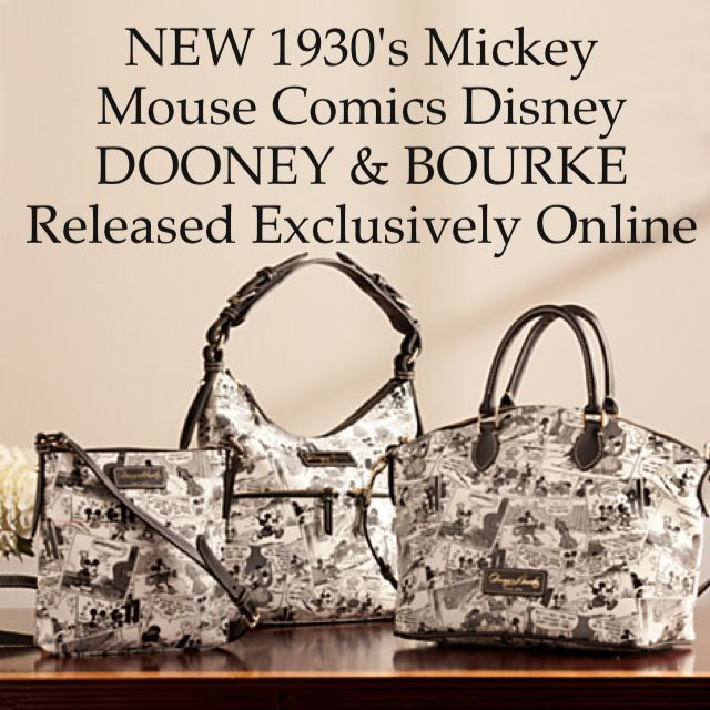 Disney Dooney and Bourke 1930 Mickey Mouse comic Purse bag