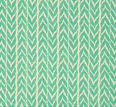 AQUA Baby Bedding - Chevron Stripe Crib Sheet / Mint Green Nursery / Baby Sheet by Babiease
