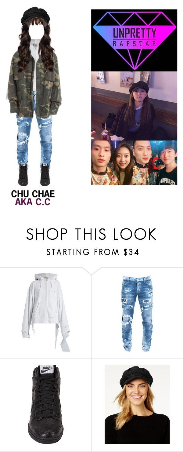 """(CHU CHAE AKA C.C) UNPRETTY RAPSTAR 4"" by nctgemz-official ❤ liked on Polyvore featuring Vetements, Dsquared2, NIKE and Nine West"