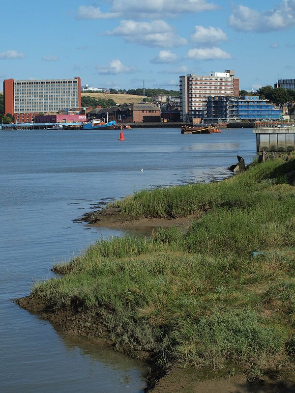 Chatham town centre from Rochester riverside walk [shared]