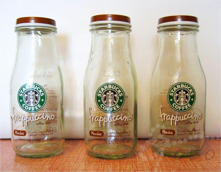 60 best starbucks bottles craft images on pinterest for Uses for old glass bottles