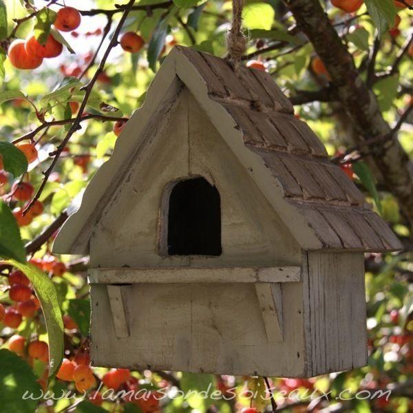 Nichoir En Bois Pour Oiseaux : Abri nichoir ? oiseaux en bois patine ancienne – Chehoma Plus