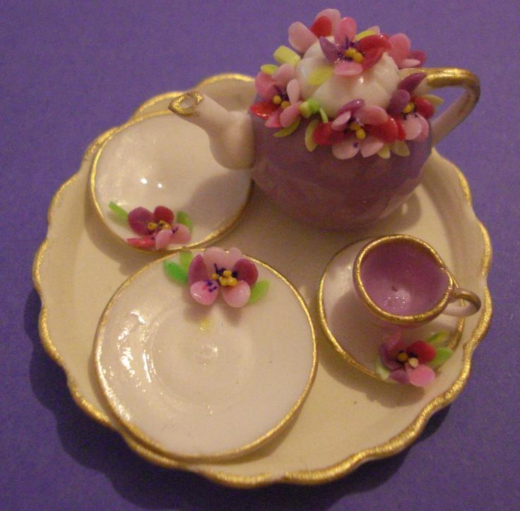 Top 20 Tea Platters: 89 Best Images About Miniature Teapots On Pinterest